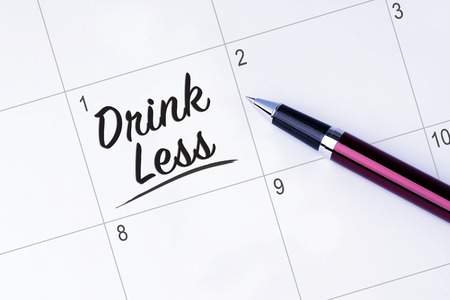 personal decisions: The words Drink Less written on a calendar