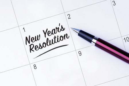 new years resolution: The words New Years Resolution