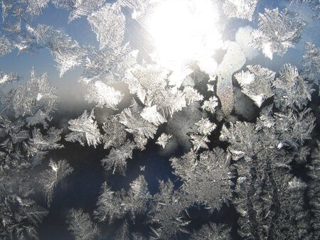 Frosty natural pattern and sun Stock Photo - 2066584