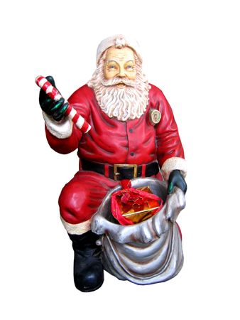 Christmas statue of Santa Claus isolated on the white background photo