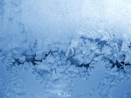 crystallization: frosty natural pattern Stock Photo