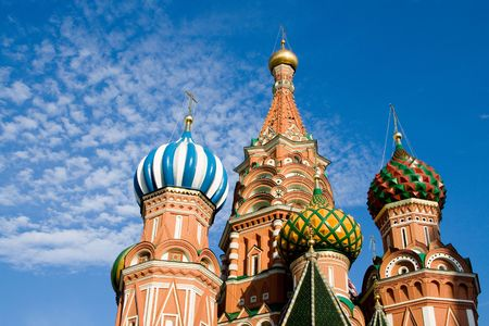 basilico: St Basil's Cathedral, Mosc�, Rusia  Foto de archivo