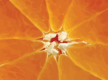 juicy: close-up of orange slice background