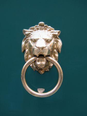 lion head doorknocker photo