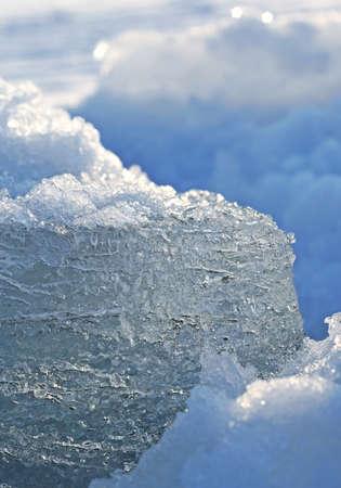 block of ice and snow photo