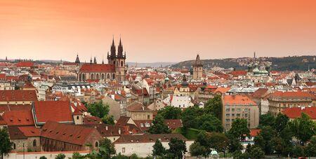 praga: View on the Prague, Czech republic