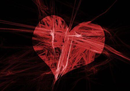 heart burn: Abstract love simbol