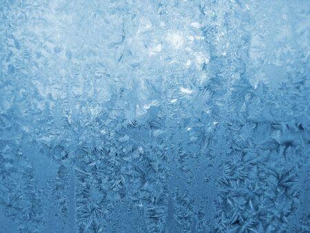 crystallization: frost on window