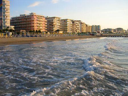 veneto: Empty morning beach, Italy, Veneto
