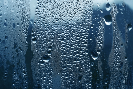 water drops on glas