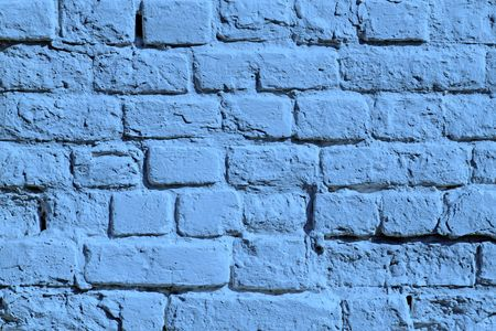 the painted blue brick wall photo