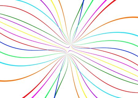 turbulence: abstract color lines on white