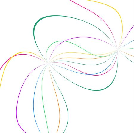 abstract color lines on white Stock Photo - 7119066