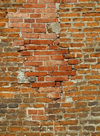 very old brick wall background                                photo
