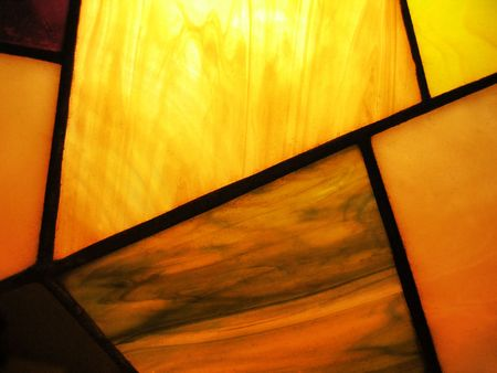 stained glass with back-lit  Stock Photo