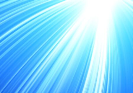 rays of light on sky blu abstract background photo