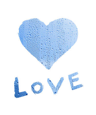 word love with heart symbol photo