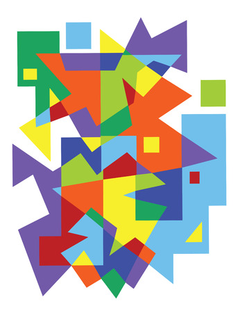 abstraction: abstract vector geometric pattern