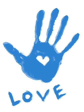 blue love symbol Stock Photo - 8911684