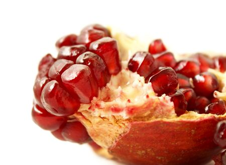 close up of tasty pomegranate fruit photo