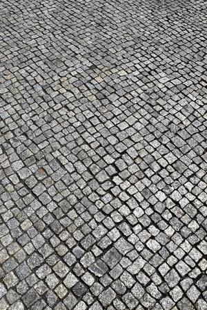 empedrado: una imagen de textura de adoquines        Foto de archivo