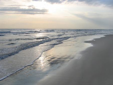 rimini: Empty beach, Adriatic sea, Rimini, Italy