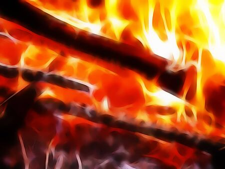 charred: abstract background - hot fire