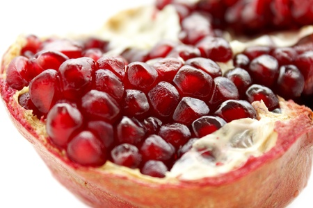 close up of tasty pomegranate fruit Stock Photo