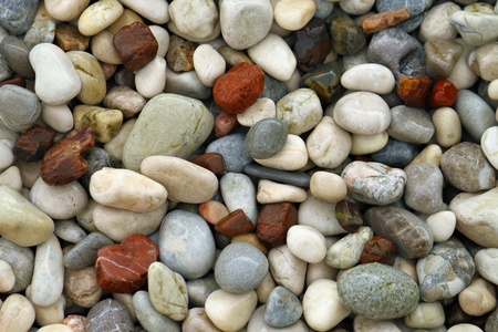 rounded circular: background with sea pebble stones  Stock Photo
