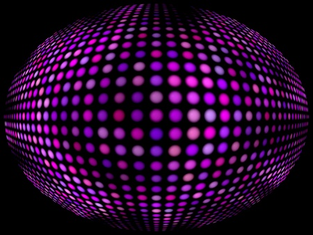 abstract background of colored balls on black photo