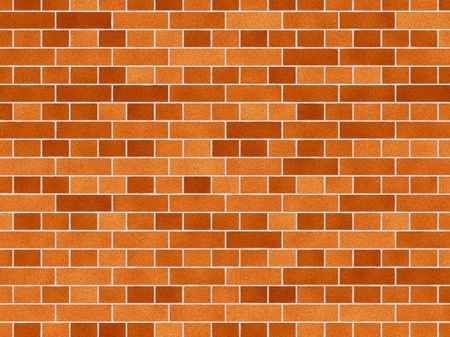 brick and mortar: illustration of a red brick wall background Stock Photo