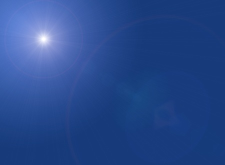 bright light in the blue sky background photo