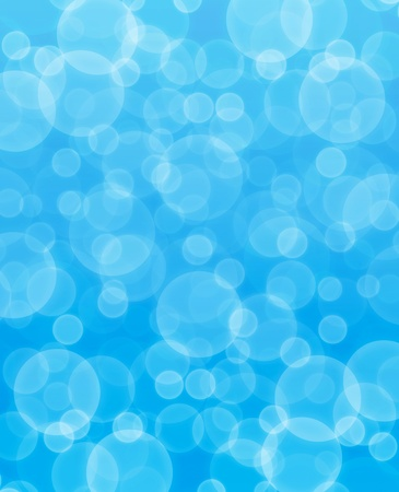 blue blurred bubbles abstract background photo