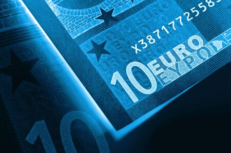 euromoney: x-ray abstract euro money background