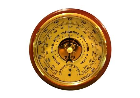 pluviometro: Barómetro sobre el fondo blanco