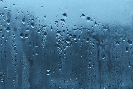 natural water drop on the glass