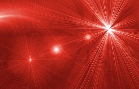 flair: star magical red background with rays of light Stock Photo