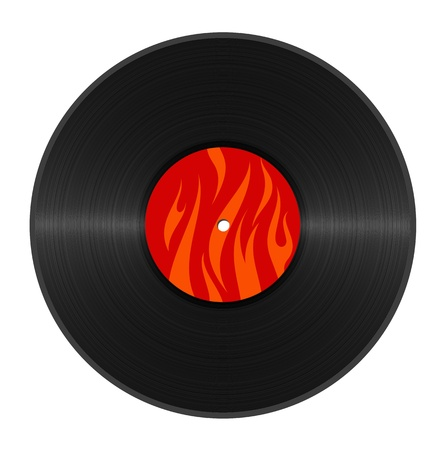 hot abstract vinyl on white background photo