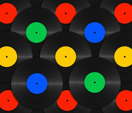 abstract vinyl with color label background photo