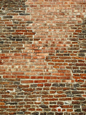 very ancient brick wall background photo