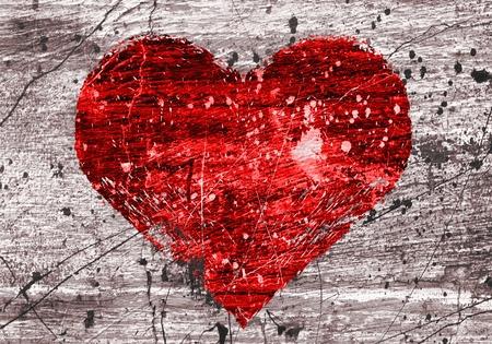 graffiti brown: grunge de fondo con el coraz�n abstracta