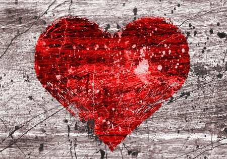 grunge background with abstract heart