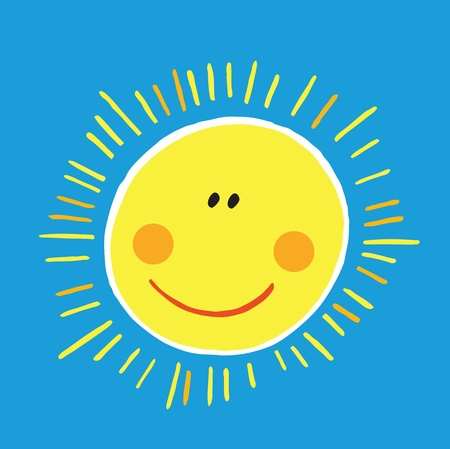 blue smiling: smiling sun