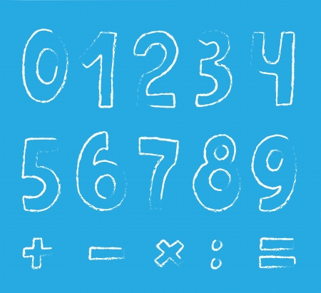 vector set of numbers on blue Stock Vector - 13837103