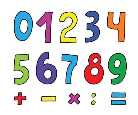 set of color numbers on white Stock Vector - 13849033