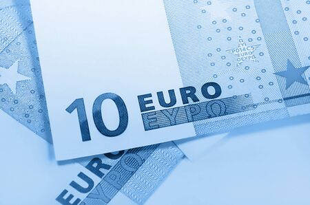 euromoney: Euro money blue background
