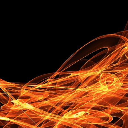 background swirl: Digital bright abstract fire background