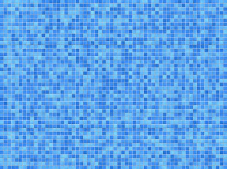 Blue mosaic background photo