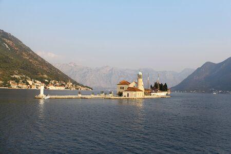 Church of Our Lady of the Rocks in Kotor bay (Boka Kotorska) near Perast, Montenegro, Europe photo