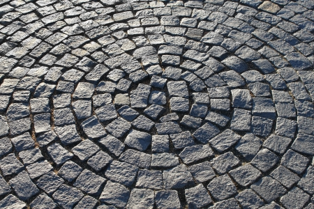 Fragment of a pavement in the form of a circle photo